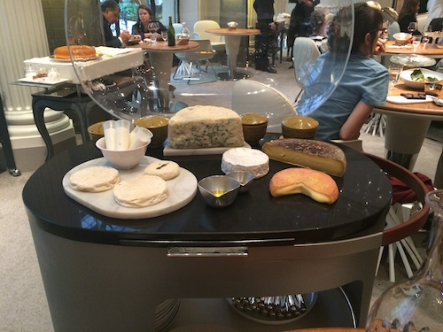 cheese cart at Alain Ducasse at le Plaza Athenée | Paris by Mouth