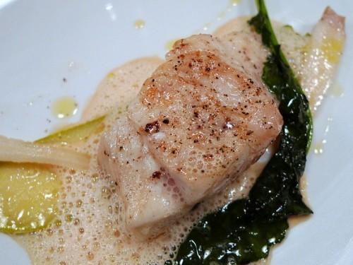 Fish at Abri restaurant in Paris   parisbymouth.com