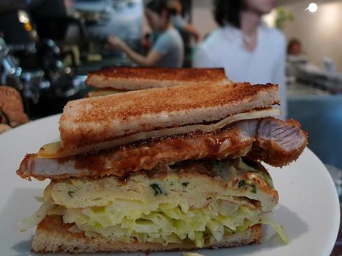 Japanese sandwich at Abri restaurant in Paris   parisbymouth.com