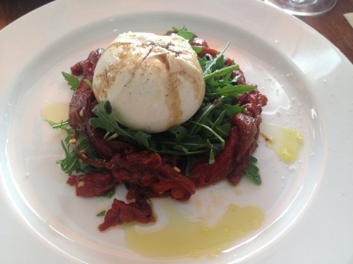 Burrata at Caffe dei Cioppi in Paris | parisbymouth.com