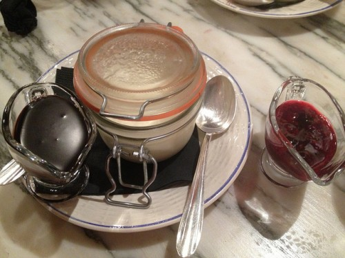 Panna Cotta with red fruits at Come a Casa restaurant in Paris  | parisbymouth.com