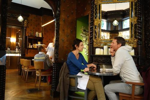 Diners at Caffè Stern in Paris