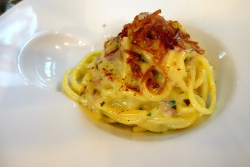 Carbonara at Caffè Stern in Paris