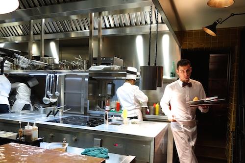 Open kitchen at Caffè Stern in Paris