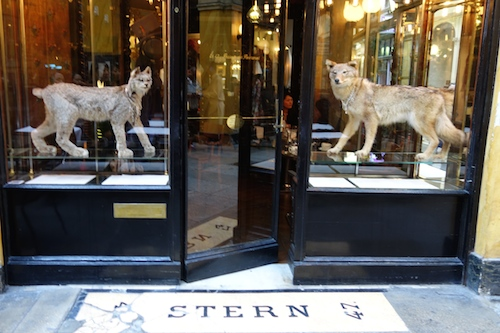 Entrance at Caffè Stern in Paris