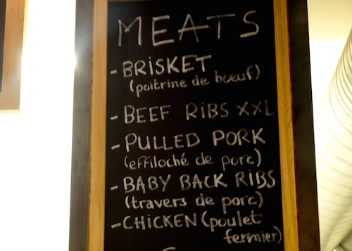 Menu at The Beast BBQ in Paris | Paris by Mouth