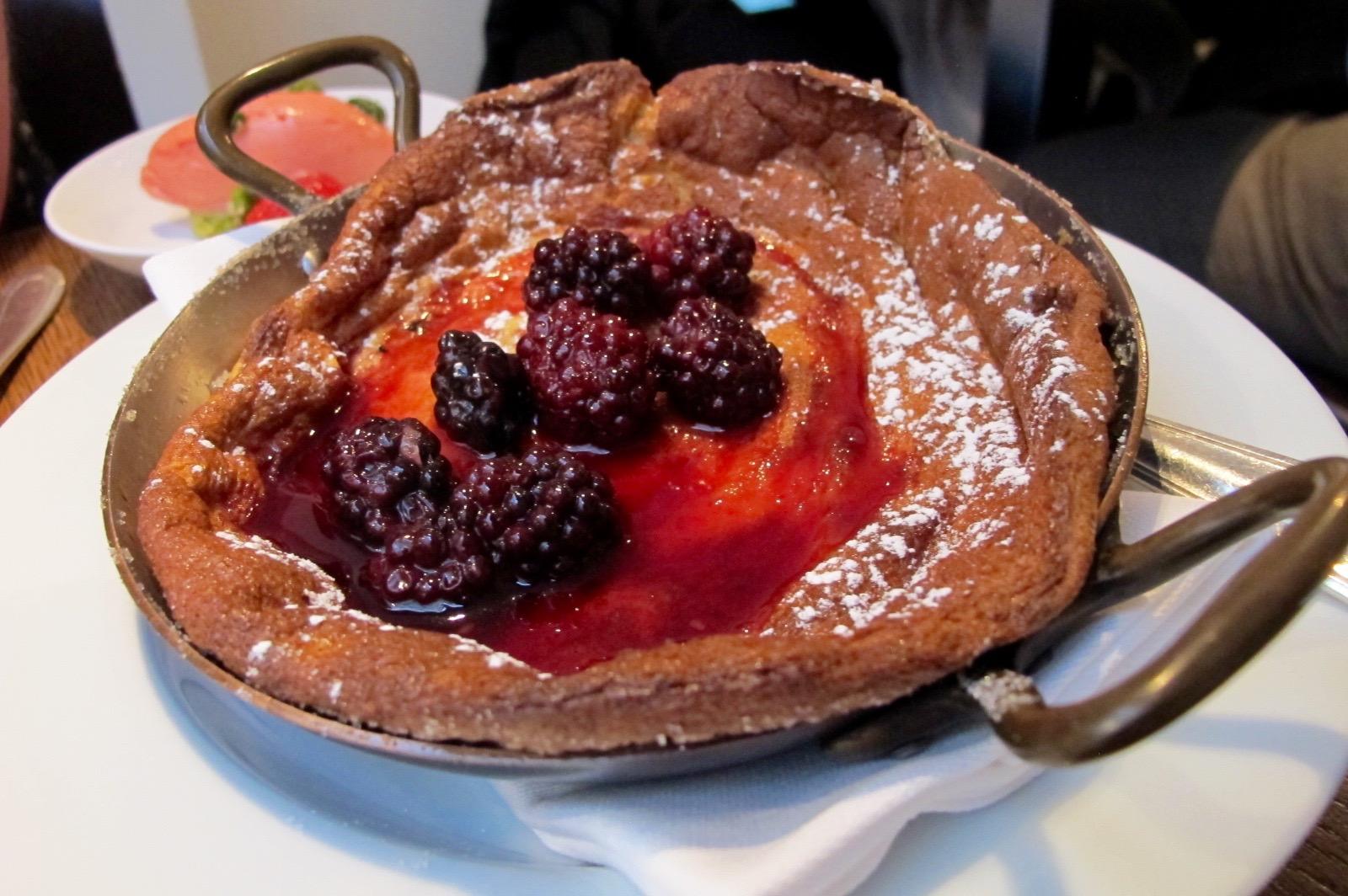 Berry clafoutis at Spring restaurant in Paris