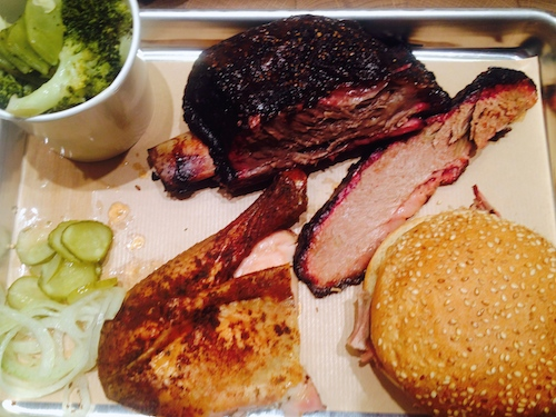 Beef rib, brisket, barbecued chicken and pulled pork at The Beast restaurant in Paris | Paris by Mouth