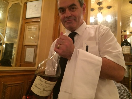 armagnac at Josephine Chez Dumonet restaurant in Paris | parisbymouth.com