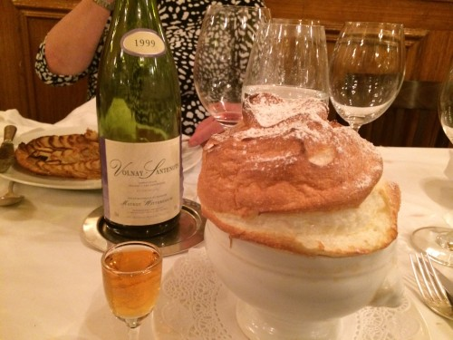 grand marnier souffle at Josephine Chez Dumonet bistro in Paris | parisbymouth.com