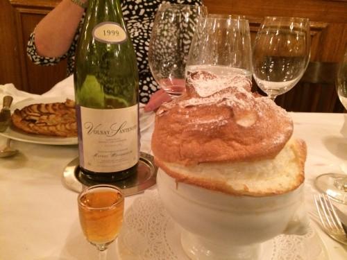 grand marnier souffle at Josephine Chez Dumonet bistro in Paris | parisbymouth.com