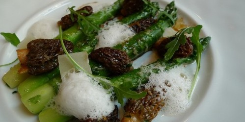 Asparagus and Morels at Frederic Simonin restaurant in Paris | parisbymouth.com