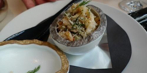 crab at Frederic Simonin restaurant in Paris | parisbymouth.com