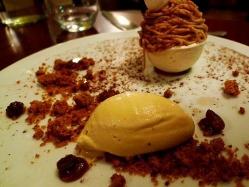 Mont blanc dessert at La Table d'Eugene restaurant in Paris | parisbymouth.com