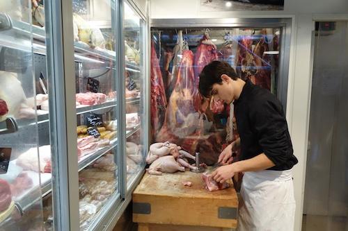Preparing meat at Terroirs d'Avenir | Paris By Mouth