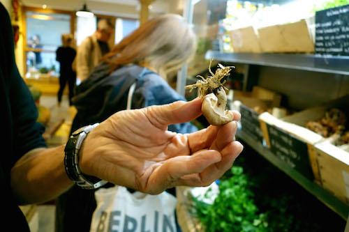 Wood-grown shitake mushroom at Terroirs d'Avenir | Paris By Mouth