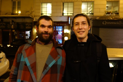 Sébastien Riffault & Aaron Ayscough outside Le Garde Robe | Paris by Mouth