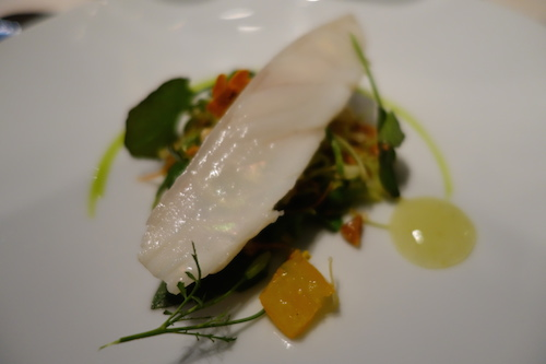 Astrance: Saint-Pierre (John Dory) with julienned vegetables