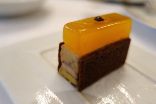 Foie gras, spice bread, mango jelly (Le Cinq)