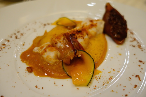Guy Savoy: fish and butternut squash