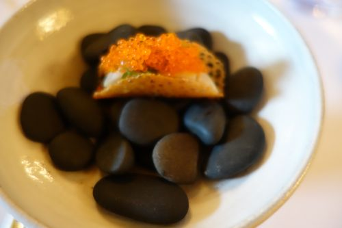 Le Meurice: mackerel taco