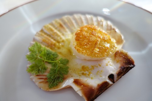 Arpège: curried sea scallop