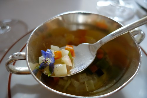 Arpège: minestrone of vegetables