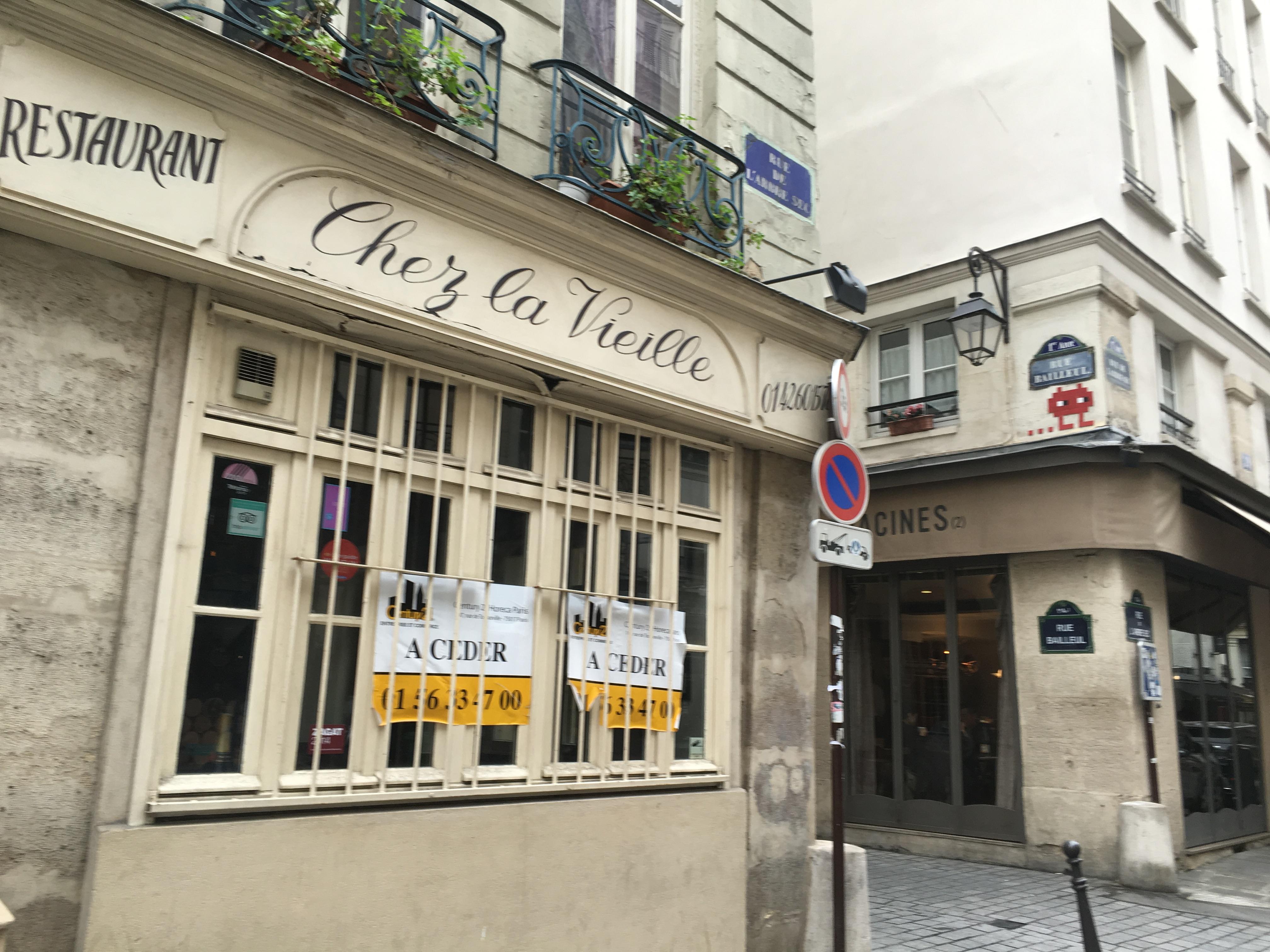 Chez la Vieille in Paris from Daniel Rose   parisbymouth.com