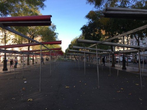 All quiet at the Bastille market on Sunday morning