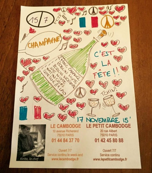 Le Cambodge reopens on November 17 with a Champagne filled party