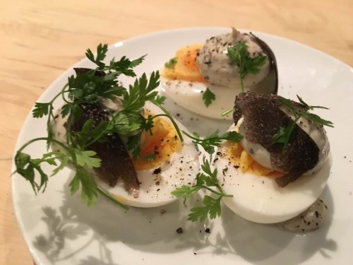 black truffle deviled eggs cave paul bert | parisbymouth.com