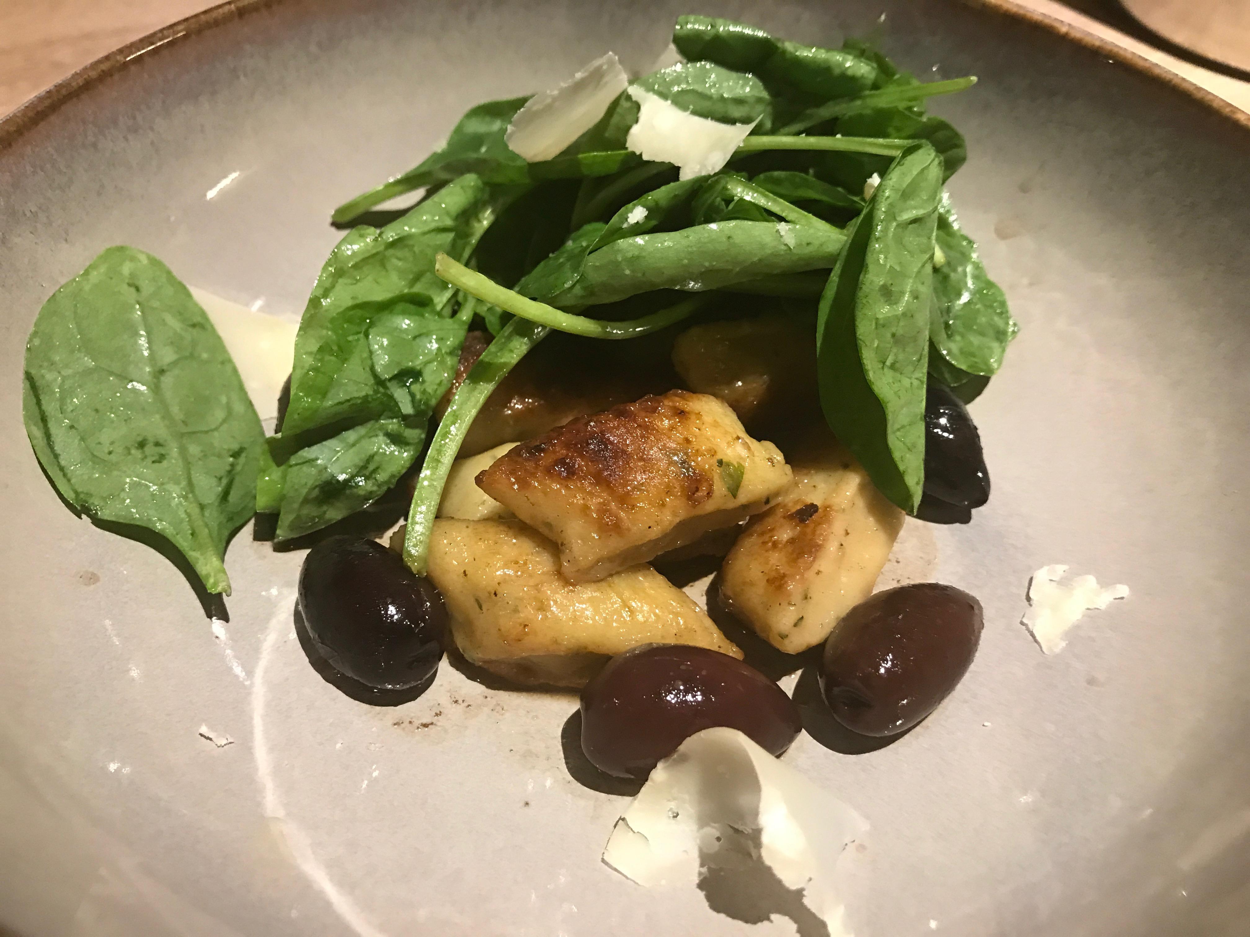 Gnocchi at Le Villaret restaurant in Paris