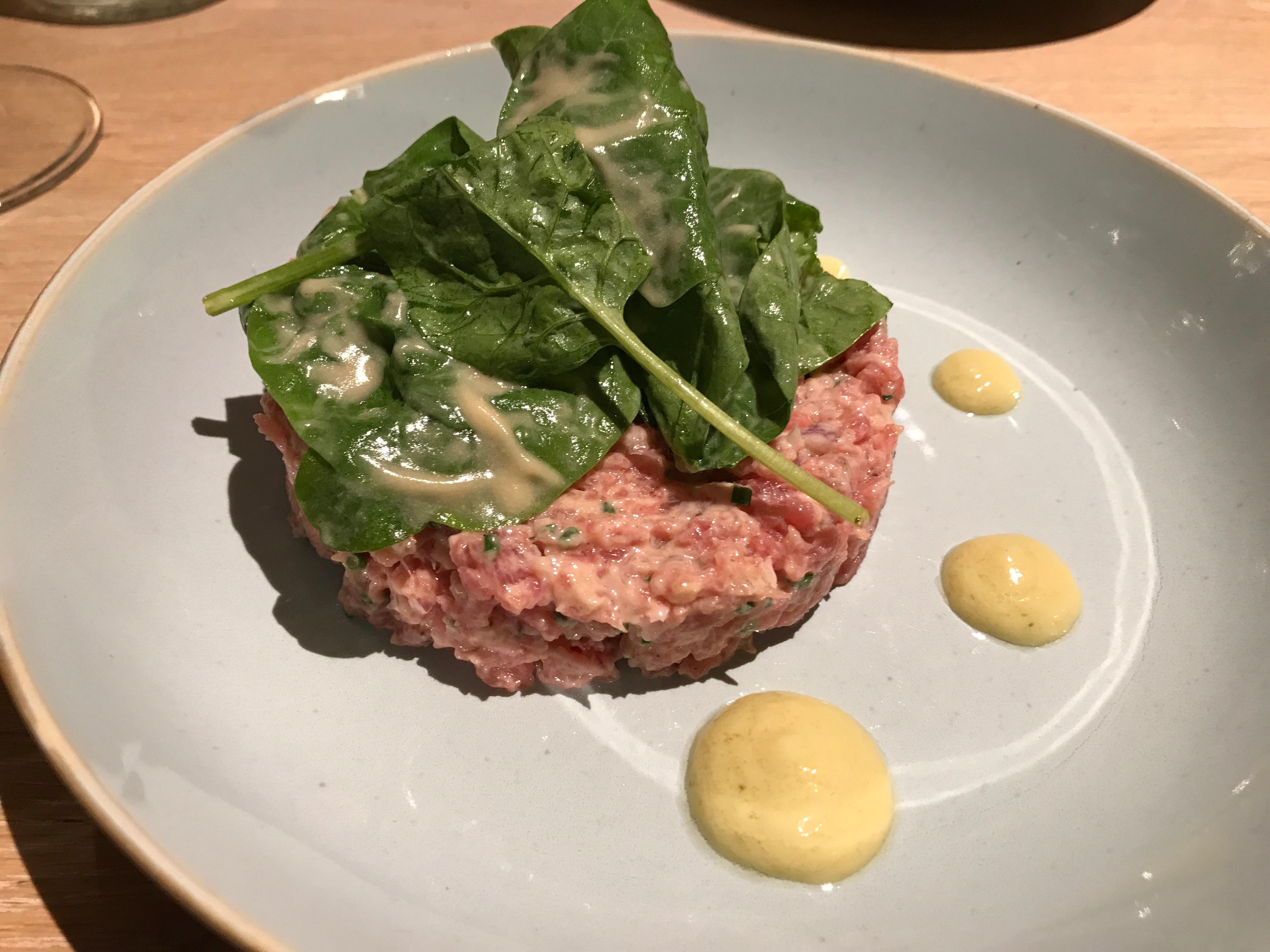 Veal tartare at Le Villaret restaurant in Paris