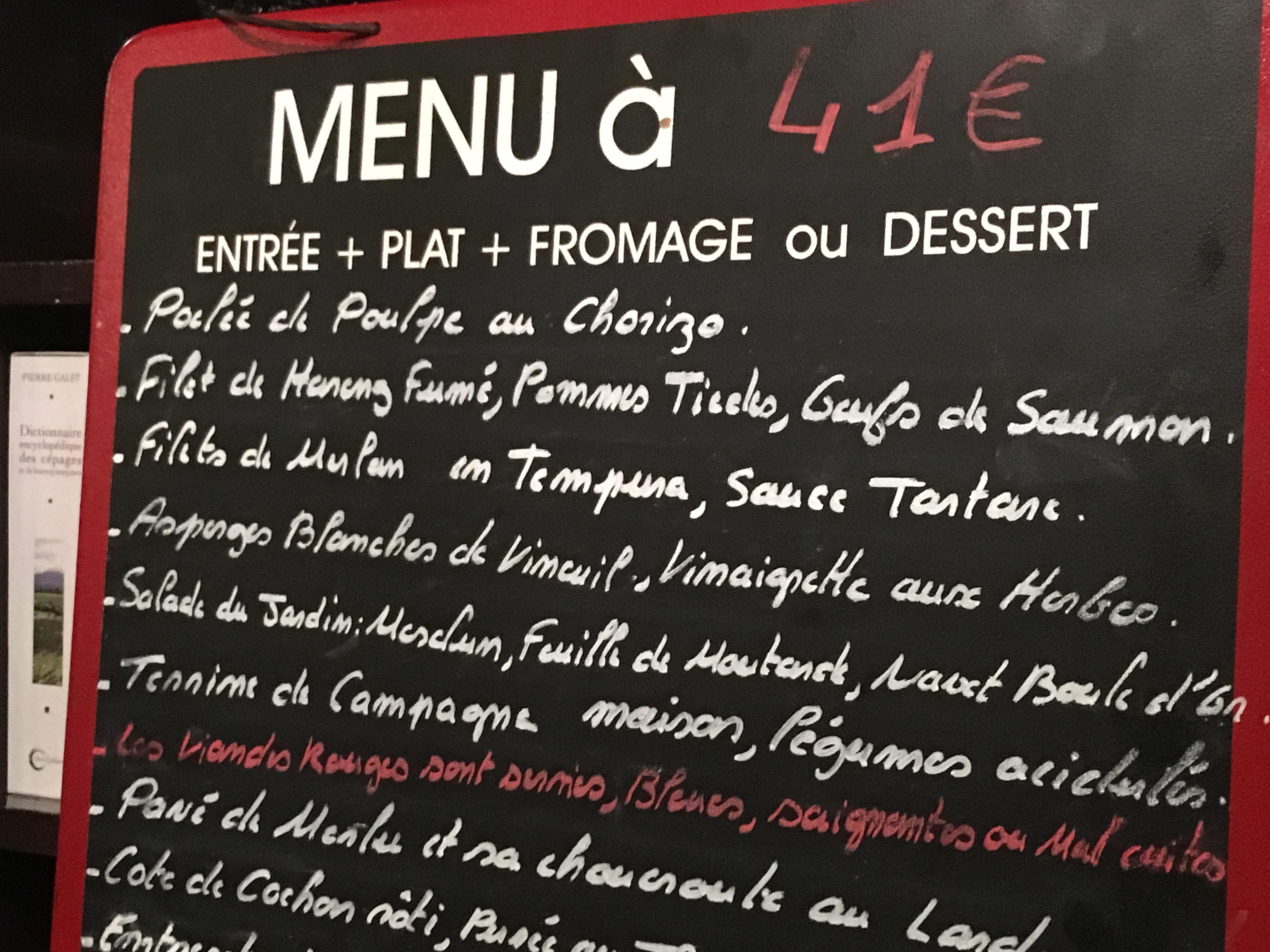 le bistrot paul bert restaurant in paris chalkboard menu paris